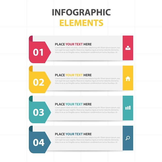 Bunte abstrakte Dreieck Geschäft Infografische Vorlage Kostenlose Vektoren