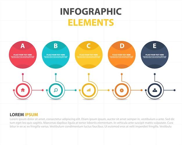 Bunte abstrakte Kreis Geschäft Infografische Vorlage Kostenlose Vektoren