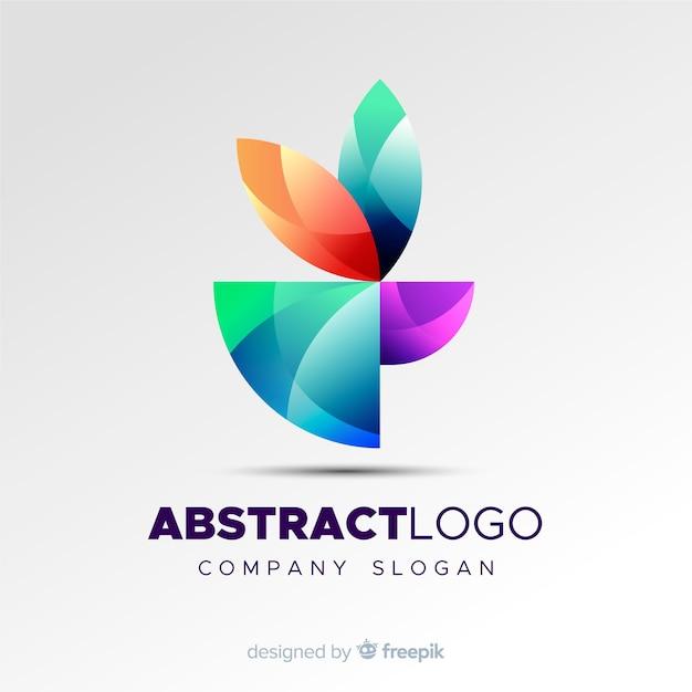 Bunte abstrakte logoschablone Kostenlosen Vektoren