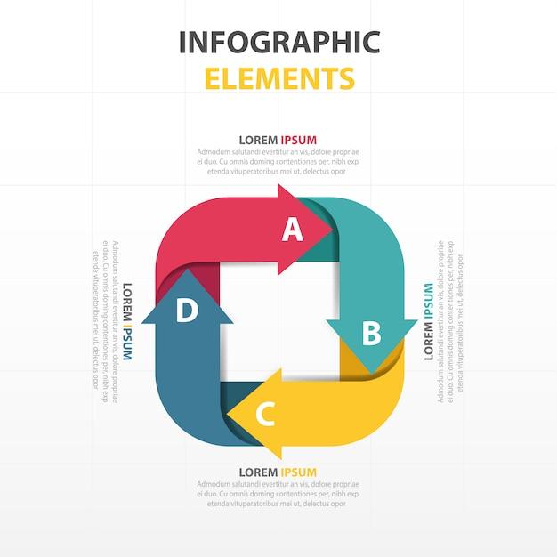 Bunte abstrakte Quadrat Geschäft Infografik-Vorlage | Download der ...