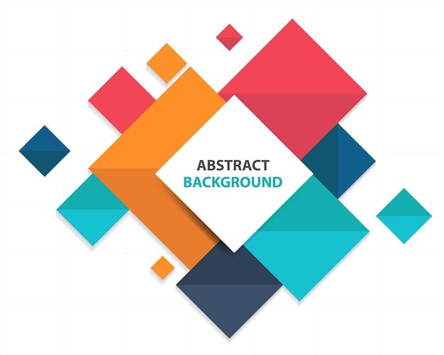 Bunte abstrakte quadratische Geschäft Infografische Vorlage Kostenlose Vektoren