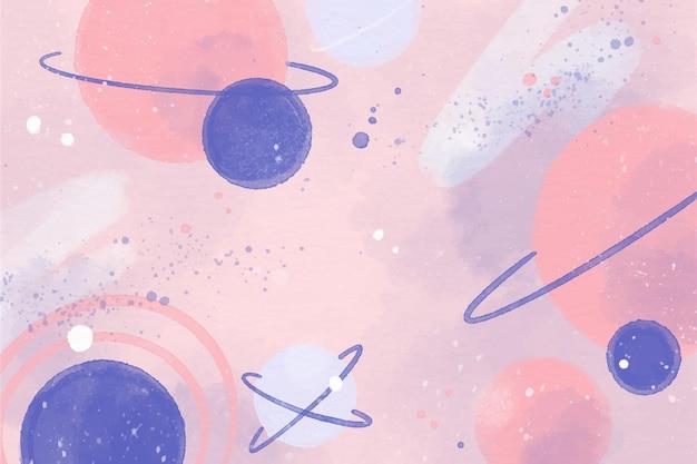Bunte aquarellgalaxietapete Kostenlosen Vektoren