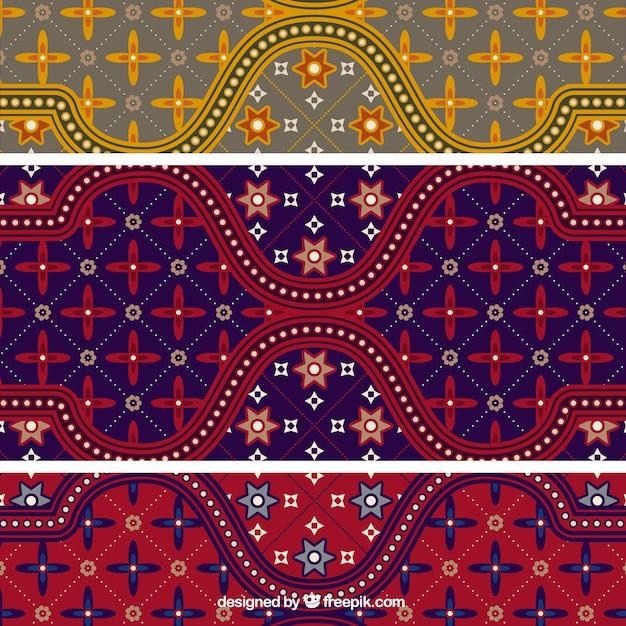 Bunte Batik-Muster Illustrator Vektor Kostenlose Vektoren