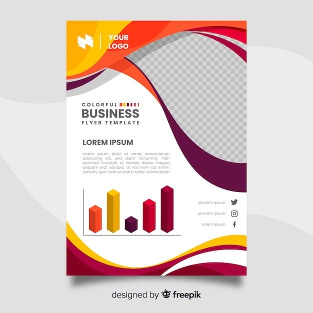 Bunte business-flyer-vorlage Kostenlosen Vektoren