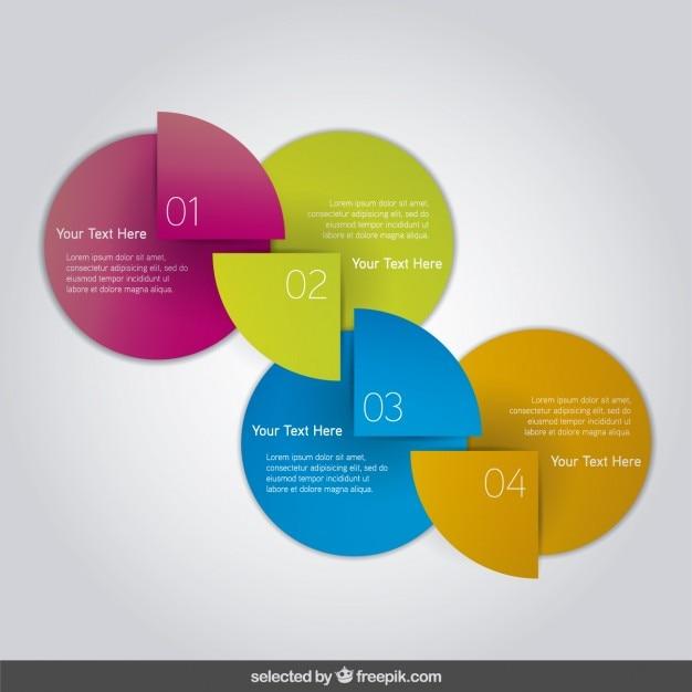 Bunte diagramm infografik Kostenlosen Vektoren