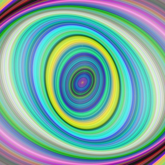 Bunte elliptische digitale fraktale kunst hintergrund Kostenlosen Vektoren
