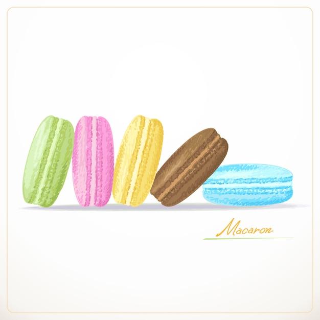 Bunte französische macarons Premium Vektoren