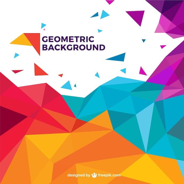 Bunte geometrische Hintergrund Kostenlose Vektoren