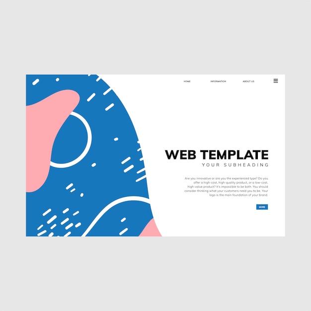 Bunte geometrische memphis-art-webschablone Kostenlosen Vektoren