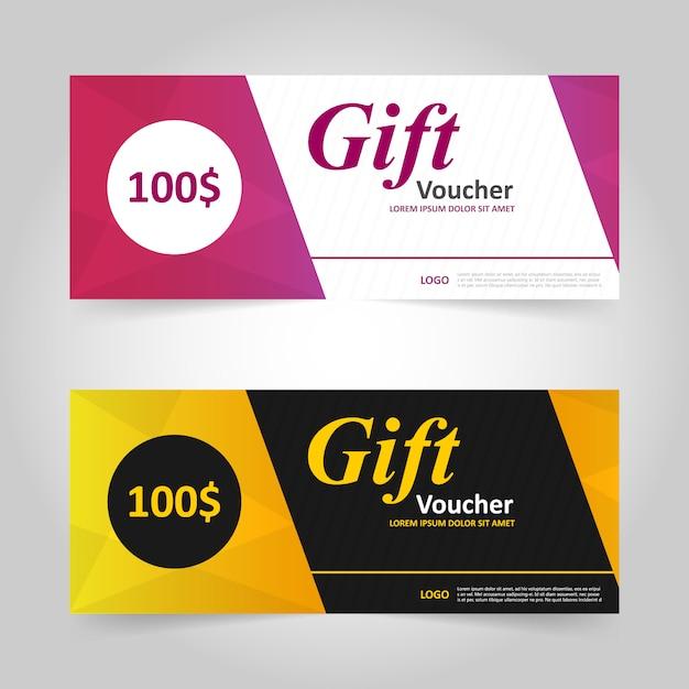 Bunte Geschenkgutschein Vorlage Muster | Download der kostenlosen Vektor