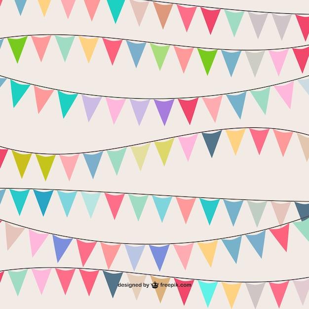 Bunte Girlande Muster | Download der kostenlosen Vektor