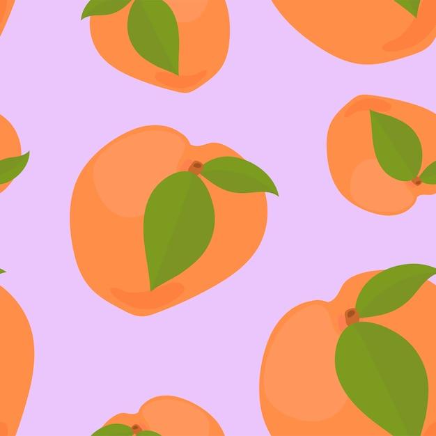 Bunte hand gezeichnetes aprikosenmuster Kostenlosen Vektoren