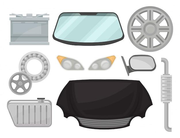 Bunte illustration im stil auf weißem hintergrund. Premium Vektoren