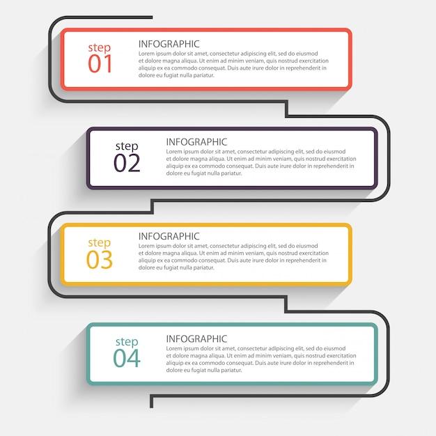 Bunte infografiken Premium Vektoren