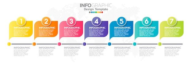 Bunte infographik element vorlage Premium Vektoren