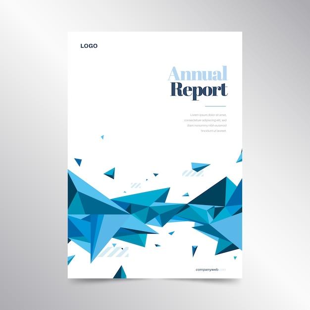 Bunte jahresberichtvorlage Kostenlosen Vektoren