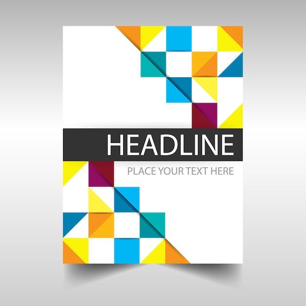 Bunte kreative Jahresbericht Buchumschlag Vorlage | Download der ...