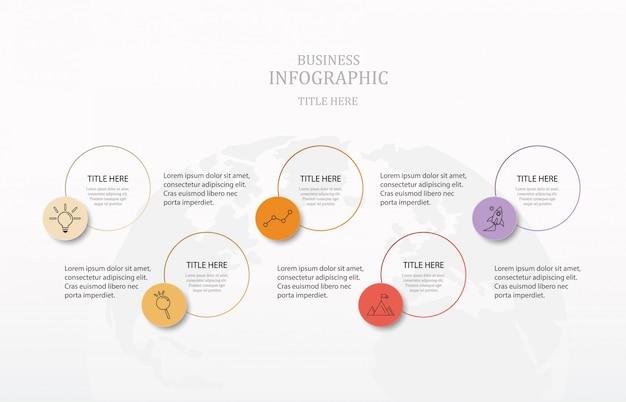 Bunte kreise infografiken Premium Vektoren