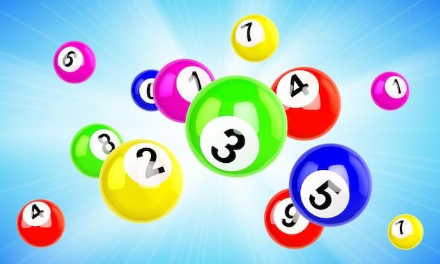 Bunte lottokugeln fliegen Kostenlosen Vektoren