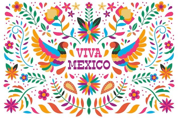 Bunte mexikanische tapete Kostenlosen Vektoren