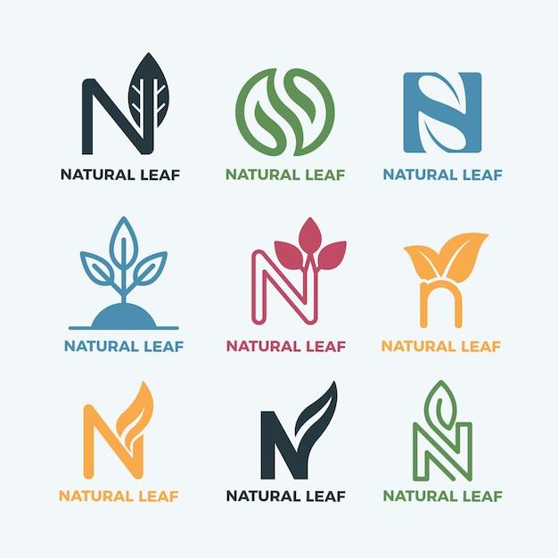 Bunte minimale logos im vintage-stil Kostenlosen Vektoren