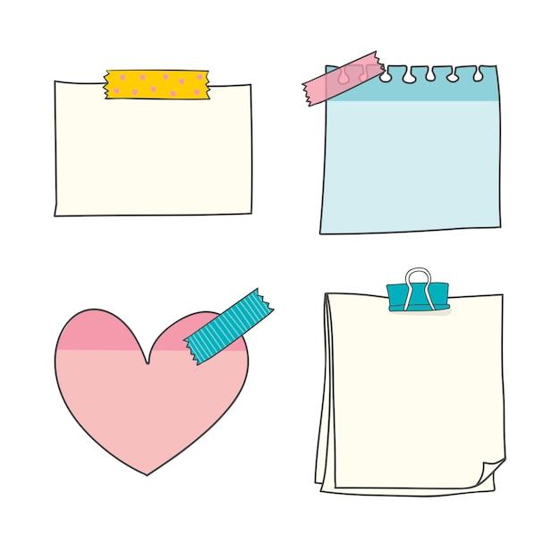 Bunte papiersammlung Kostenlosen Vektoren
