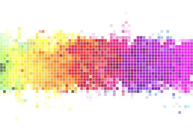 Bunte pixel hintergrund illustration Premium Vektoren