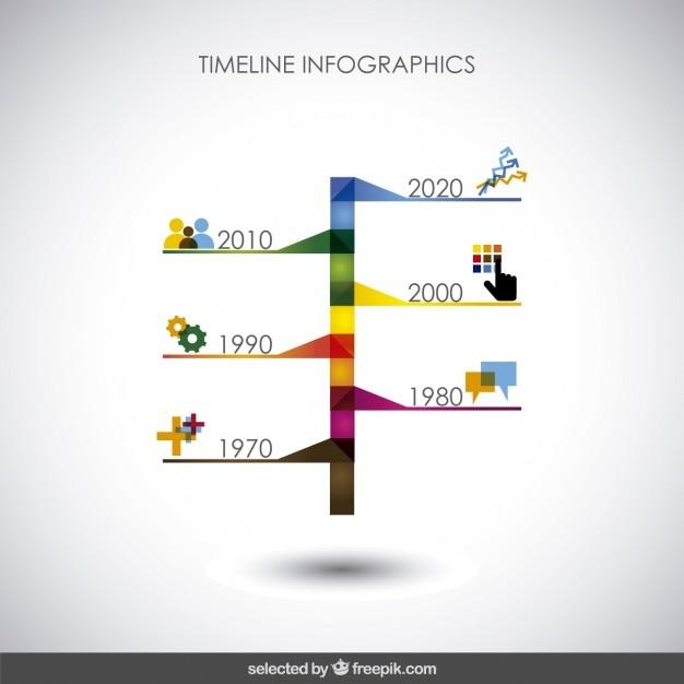 Bunte timeline infografiken Kostenlosen Vektoren