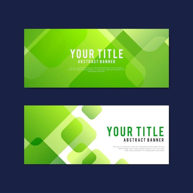 Bunte und abstrakte banner design-vorlagen Kostenlosen Vektoren