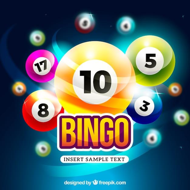 Bunte und helle bingo hintergrund Premium Vektoren