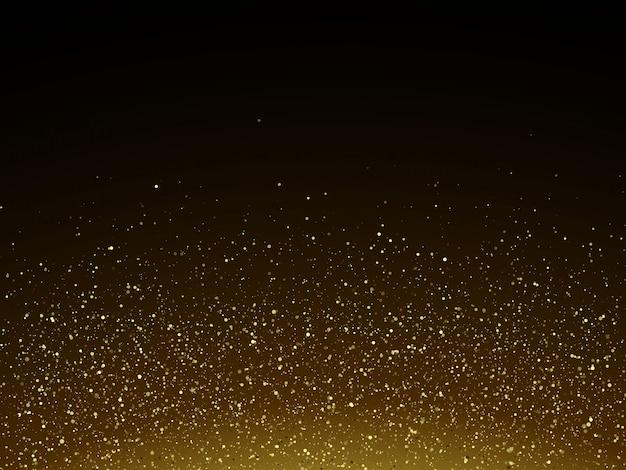 Bunte vektorabbildung mit goldenen dekorativen elementen über schwarzem hintergrund. abstrakte vorlagen für urlaub design Premium Vektoren