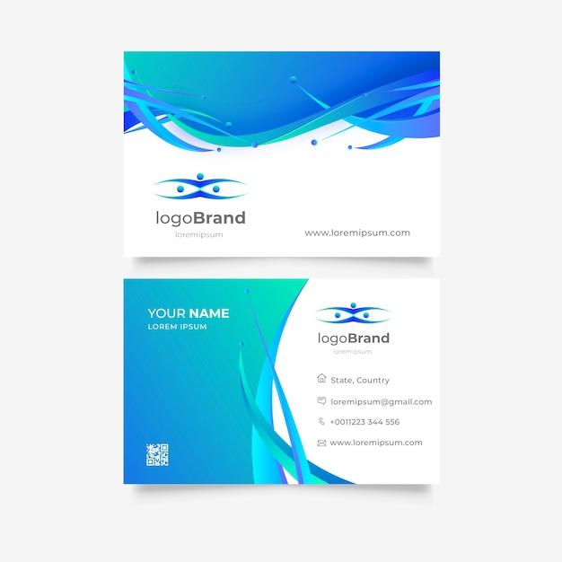 Bunte visitenkarteschablone mit logo Kostenlosen Vektoren