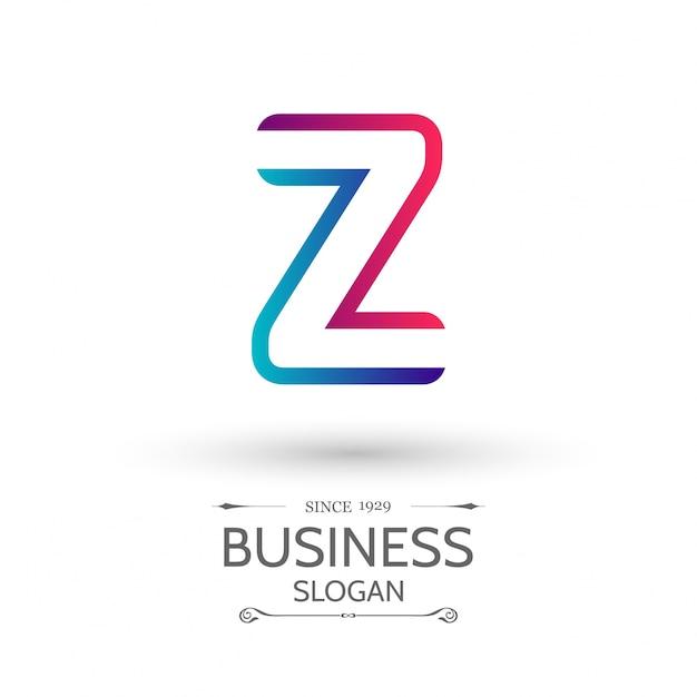 Bunte z brief logo alphabet logo-design Kostenlosen Vektoren