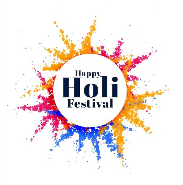Bunter abstrakter holi indischer festivalhintergrund Kostenlosen Vektoren
