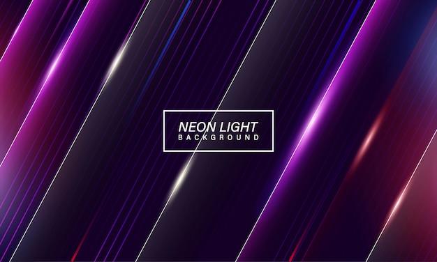 Bunter abstrakter neonlichtspielhintergrund Premium Vektoren