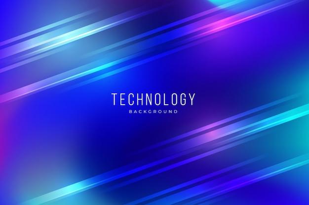 Bunter abstrakter technologiehintergrund mit lichteffekten Kostenlosen Vektoren