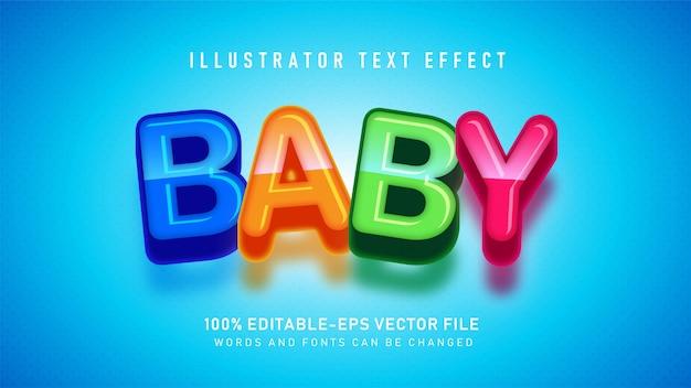 Bunter baby-textstileffekt Premium Vektoren