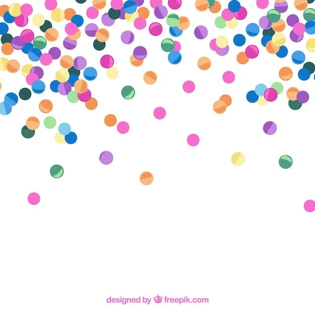 Bunter confettihintergrund in der flachen art Premium Vektoren