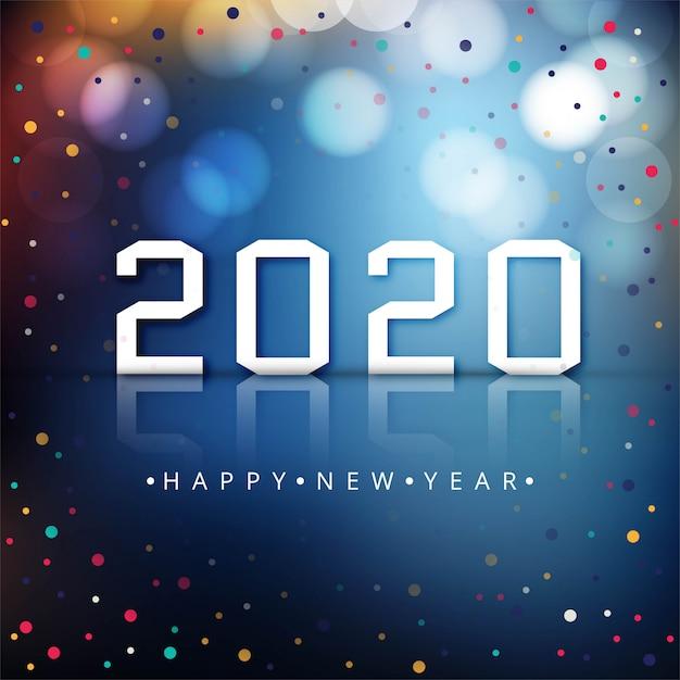 Bunter feierhintergrund des guten rutsch ins neue jahr 2020 Kostenlosen Vektoren