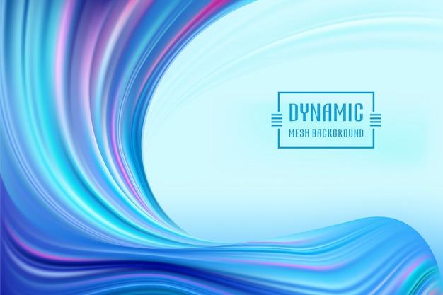 Bunter fluss des dynamischen wellen-ineinandergreifens. form-farbhintergrund der welle flüssiger Premium Vektoren
