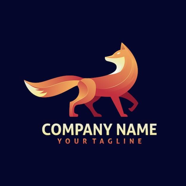 Bunter fox-logo-designvektor Premium Vektoren