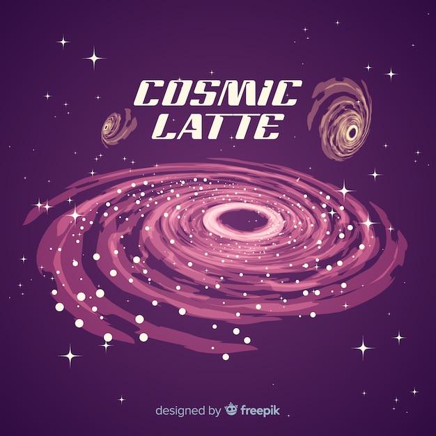 Bunter galaxiehintergrund mit flachem design Kostenlosen Vektoren