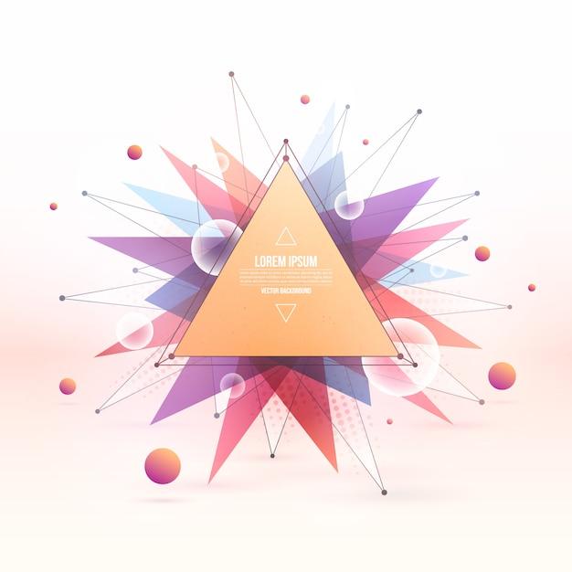 Bunter gemischter polygonaler hintergrund des abstrakten vektorsommers Premium Vektoren