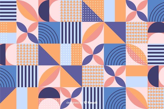 Bunter geometrischer formmosaikhintergrund Kostenlosen Vektoren