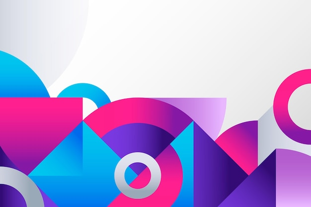 Bunter geometrischer hintergrund des gradienten Premium Vektoren