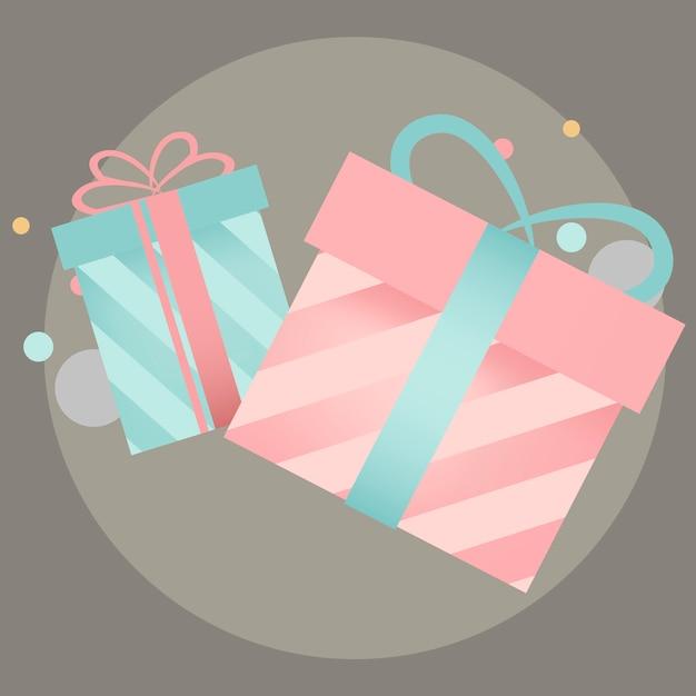Bunter geschenkbox-designvektor Kostenlosen Vektoren