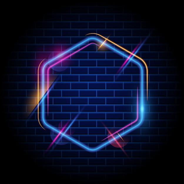 Bunter hexagon-heller feldhintergrund Premium Vektoren