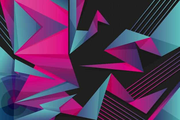 Bunter hintergrund mit geometrischen formen Kostenlosen Vektoren