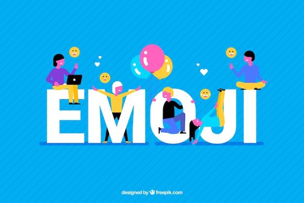 Bunter hintergrund von emoji Kostenlosen Vektoren