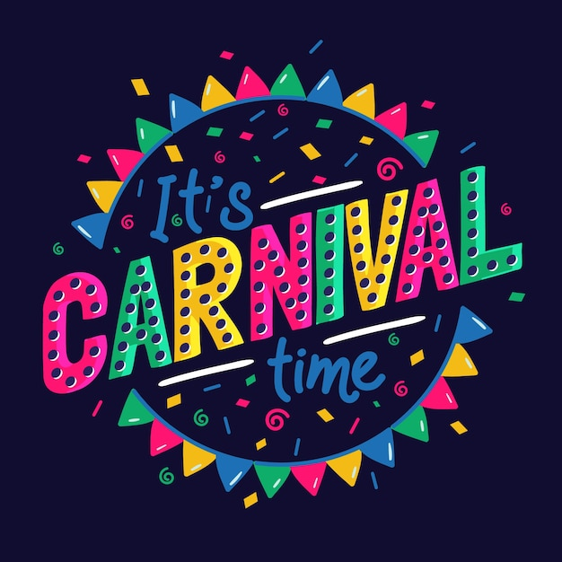 Bunter karneval schriftzug Kostenlosen Vektoren